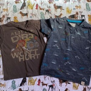 Other - Two tee shirts size 5 free planet and tonka